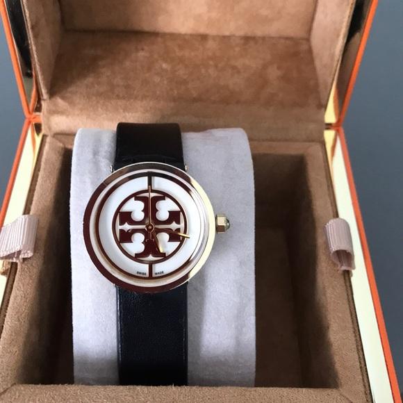 9b80977ea Tory Burch Reva black leather strap watch 36mm. M_5aef801f331627245d8efe7a